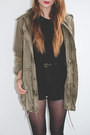 Dark-khaki-military-aritzia-jacket-black-polka-dot-h-m-tights