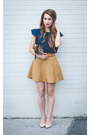 Navy-forever-21-shirt-brown-leopard-print-clare-vivier-bag