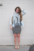 navy striped H&M dress - neutral peep toe Target boots