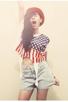 Online store top - Rebel Rebel hat - second hand shorts