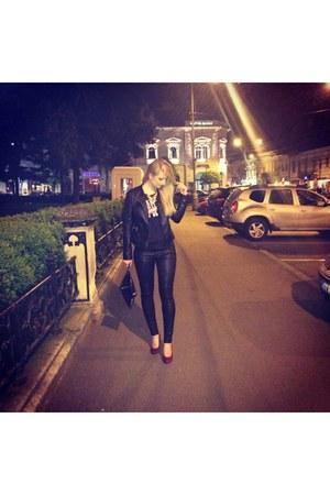 Stradivarius jacket - Zara pants - pull&bear top - Deichmann heels