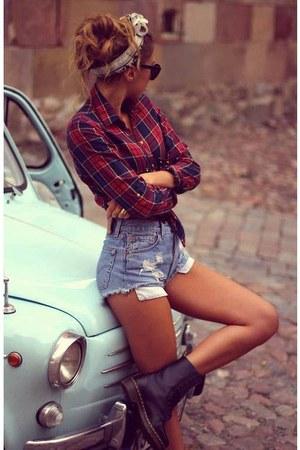 boots - jeans - shirt