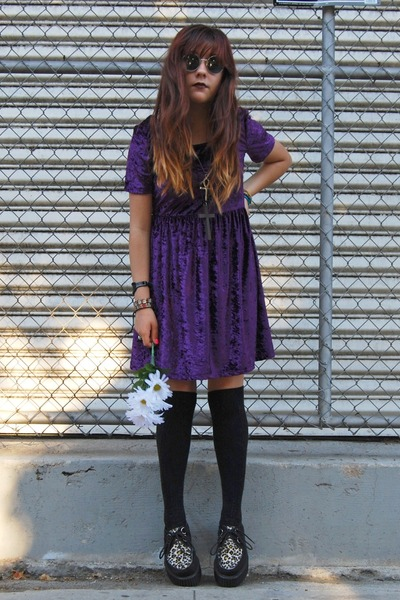 purple crushed velvet Miracle Eye dress