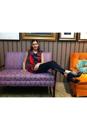black franco sarto shoes - crimson simply vera dress