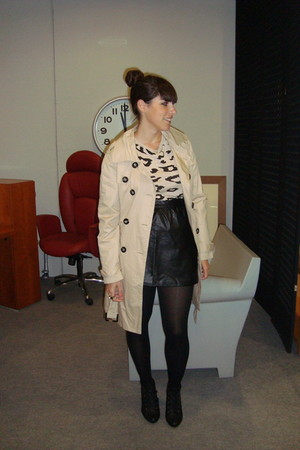 beige Primark jacket - black H&M skirt