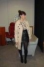 Beige-primark-jacket-black-h-m-skirt