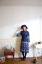 1970s Prince Carmino dress XS / French designer / angel sleeves / pleated / midi