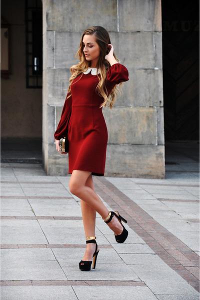 Black Zara Shoes Brick Red Zara Dresses Zara Bags Zara Necklaces | u0026quot;Little Red Dressu0026quot; by ...