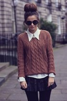 neutral acne blouse - brown Elizabeth and James sweater