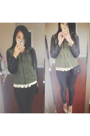 Zara jacket - American Apparel leggings - Rebecca Minkoff bag