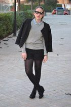 Zara boots - Zara jacket - Zara shorts - Zara top