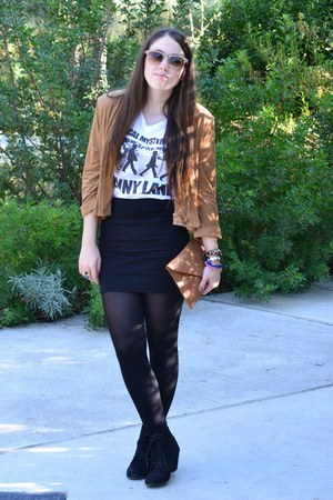 H&M Trend blazer - Zara boots - Bershka skirt - Pimkie t-shirt