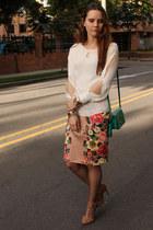 Forever21 skirt - coach purse - Zara heels