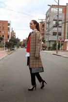 Express coat - Louis Vuitton bag - Zara jumper