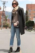Gucci watch - blue Armani Exchange jeans - black Burberry bag - Hermes bracelet