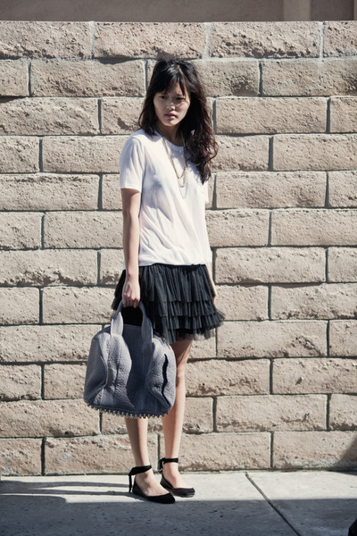 Alexander Wang top - H&amp;M skirt - Alexander Wang purse - JCrew shoes