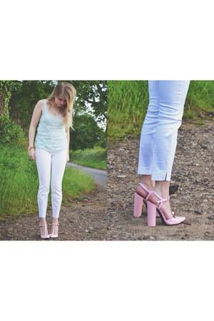bubble gum baby pink heels Zara heels