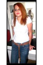 navy denim jeans Mossimo jeans - white Autograph blouse