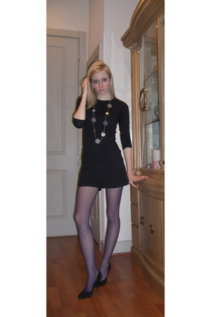 black Nordstrom shirt - black Arden B shorts - purple Forever 21 tights - black