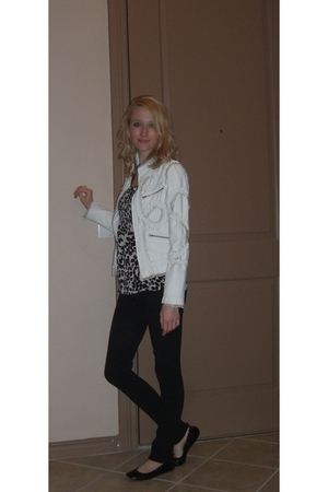 white Kelli Kouri jacket - black Walmart shirt - black Miley Cyrus & Max Azria l