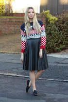 Pretty Little Thing sweater - whistles skirt - Flossys pumps