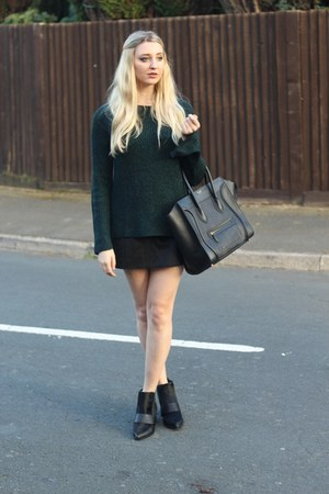 asos boots - H&M sweater - Celine bag - Zara skirt