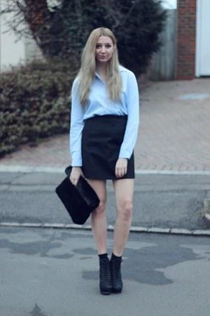 Topshop bag - Kurt Geiger boots - Atterley Road shirt - Zara skirt