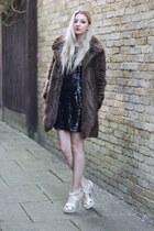 Pretty Little Thing dress - Zara coat - Boohoo heels