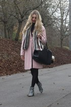 Boohoo coat - asos boots - asos scarf - H&M bag