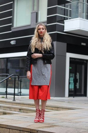 Debenhams jacket - House of Fraser top - F&F pants - ego heels
