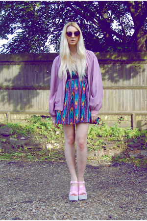 asos dress - Cat Called Esteban jacket - spylovebuy heels