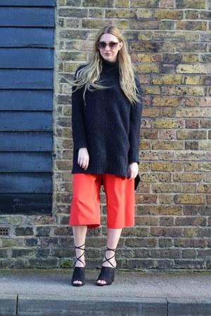 H&M sunglasses - Zara jumper - F&F pants - Nelly heels