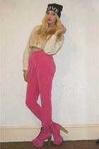 River Island hat - Jeffrey Campbell boots - River Island jumper - Topshop pants