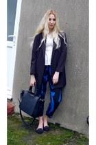 Sheinside blazer - Zara bag - French Connection pants - Topshop top