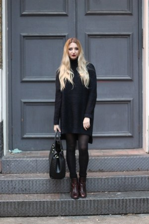 Zara boots - Zara dress - H&M bag