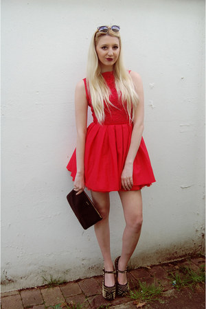 Jones and Jones dress - House of Fraser bag - Jeffrey Campbell heels