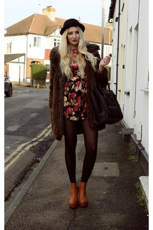 Zara coat - Missguided boots - Celine bag - Pretty Little Thing romper