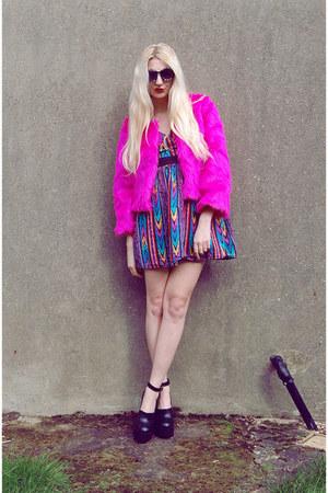 River Island shoes - asos dress - sammydress jacket - Choies sunglasses
