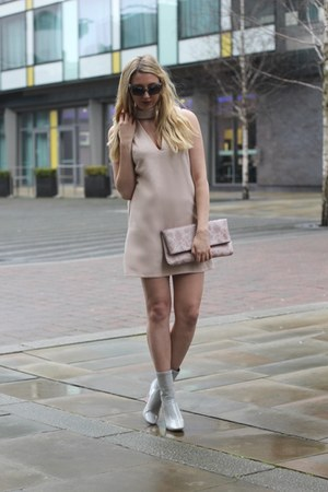Boohoo bag - ego boots - IN THE STYLE dress - Boohoo sunglasses