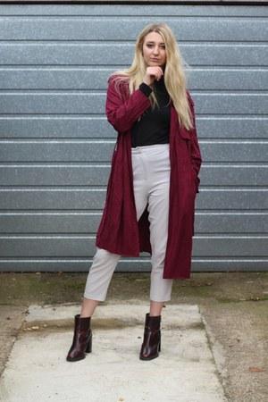 Zara boots - RARE coat - Primark sweater - Missguided pants