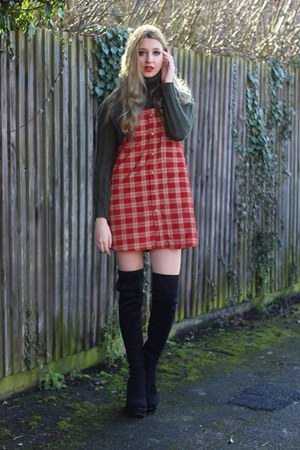 Loving Youth dress - Missguided boots - Missguided jumper