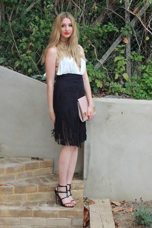 Missguided bag - Boohoo skirt - Pretty Little Thing bodysuit - next sandals