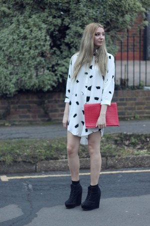 Kurt Geiger boots - Atterley Road dress - Topshop bag