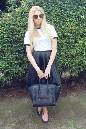 Celine bag - whistles skirt - whistles sneakers - Urban Outfitters t-shirt