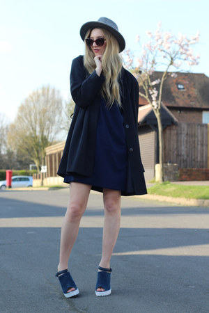 whistles dress - vintage coat - warehouse hat - Jeepers Peepers sunglasses