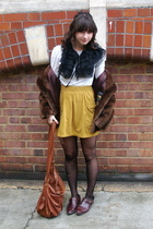 warehouse accessories - Acne Jeans t-shirt - American Apparel skirt - vintage co