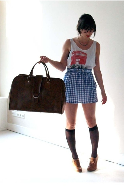 Marc Jacobs top - Topshop skirt - Topshop shoes - Episode purse