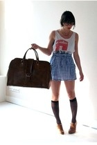 Marc Jacobs top - Topshop skirt - Topshop shoes - Episode purse