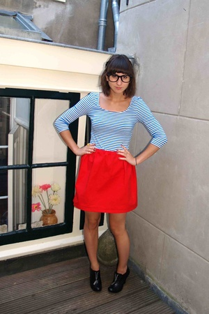 H&M top - self-made skirt - Harrods shoes