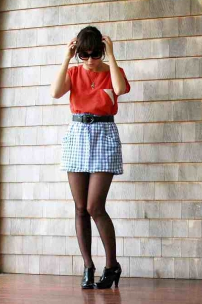 Episode Vintage top - Topshop skirt - Chanel sunglasses - payless shoes
